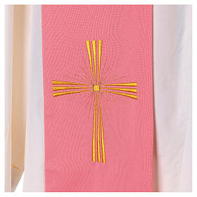 Stole machine embroidered with cross 100% polyester s2