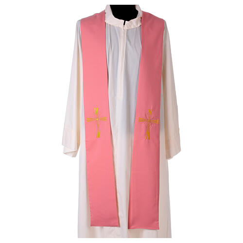 Stole machine embroidered with cross 100% polyester 1