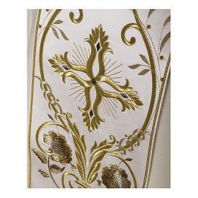 Casula color oro in pura lana ricamata direttamente sullo stolone s2