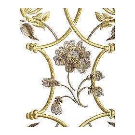 Casula color oro in pura lana ricamata direttamente sullo stolone s3