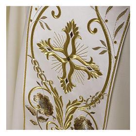 Casula color oro in pura lana ricamata direttamente sullo stolone s5