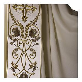 Casula color oro in pura lana ricamata direttamente sullo stolone s6