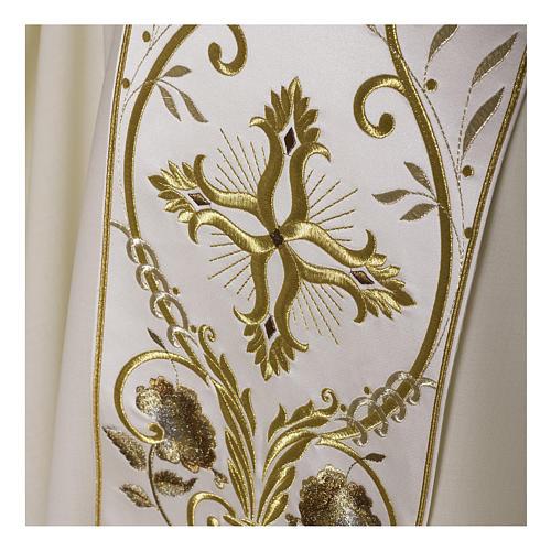 Casula color oro in pura lana ricamata direttamente sullo stolone 5