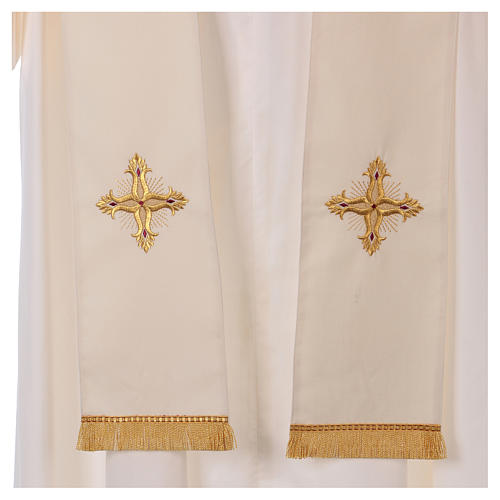Casula color oro in pura lana ricamata direttamente sullo stolone 6