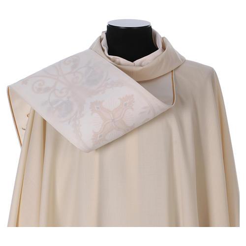 Casula Dourada Pura Lã Estolão Bordado  8