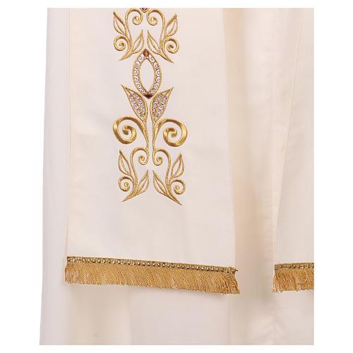 Étole 100% polyester brodée à la machine croix et décorations 3