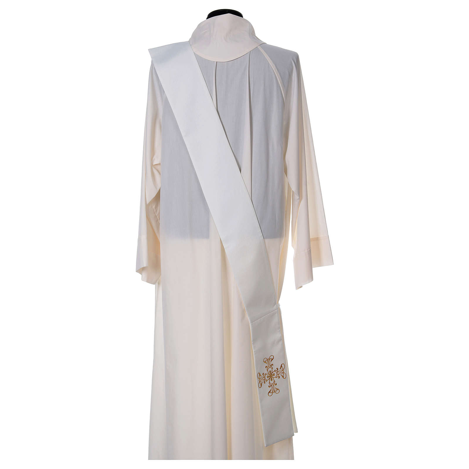 Diaconal stole with in polyester, ivory 4