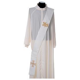 Étole diaconale polyester couleur ivoire s1