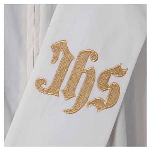 Étole diaconale polyester couleur ivoire 2