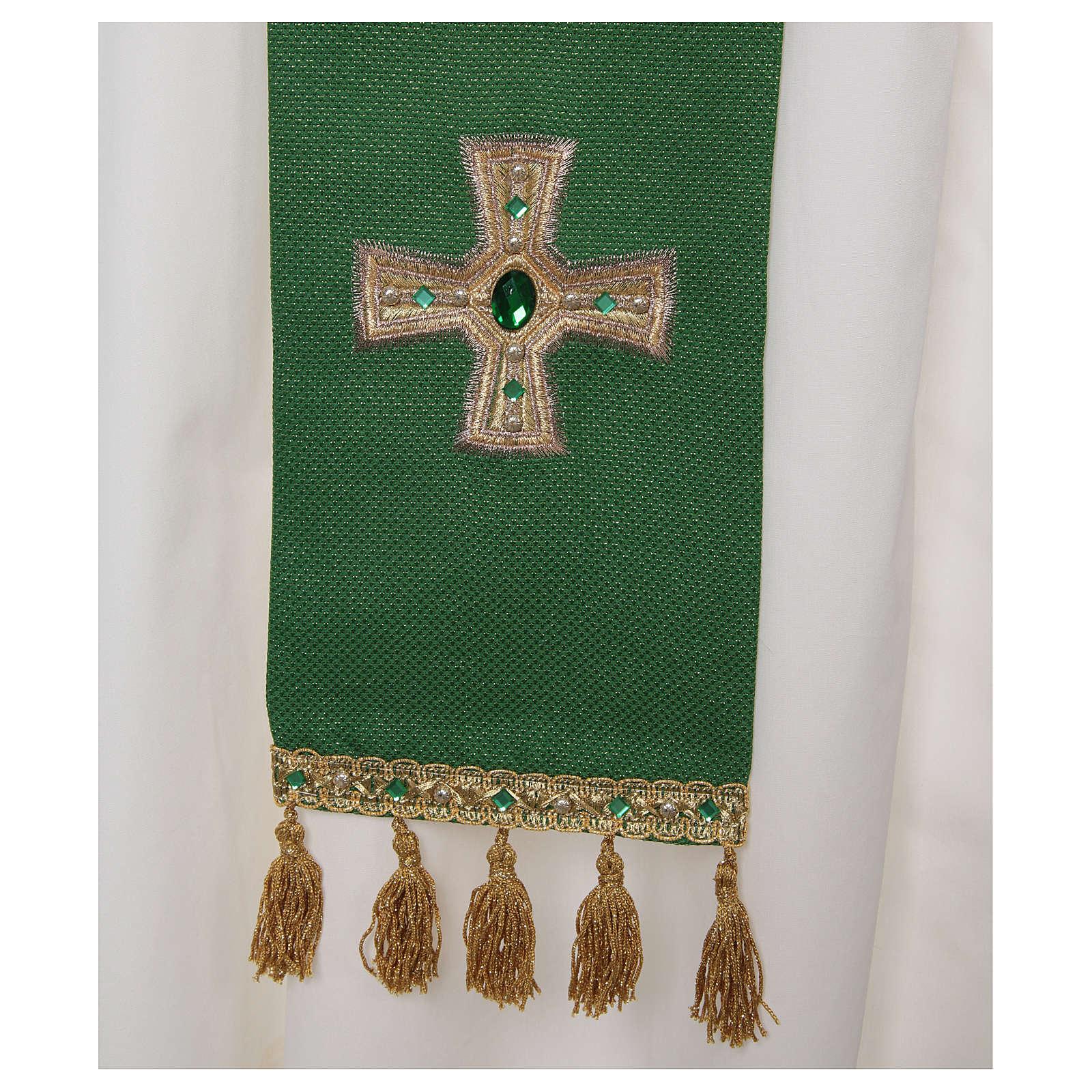 Priesterstola mit Kreuz und Quasten 4