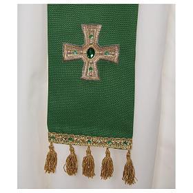 Priesterstola mit Kreuz und Quasten s2