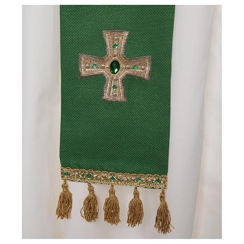 Priesterstola mit Kreuz und Quasten 2