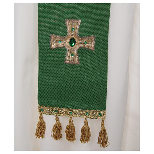 Stole with fringe and cross 2