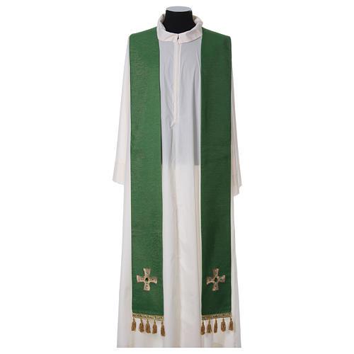 Étole avec franges et croix 1