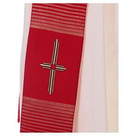 Étole 58% laine 32% soie 10% lurex avec croix dorée s2