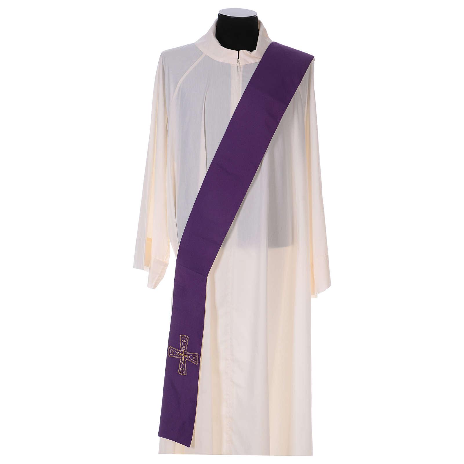 Étole réversible 100% polyester avec croix 4