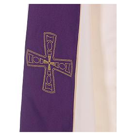 Étole réversible 100% polyester avec croix s2