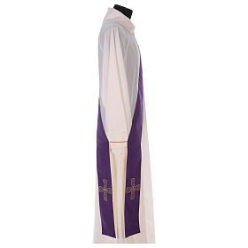 Étole réversible 100% polyester avec croix s3