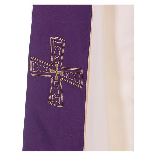 Étole réversible 100% polyester avec croix 2