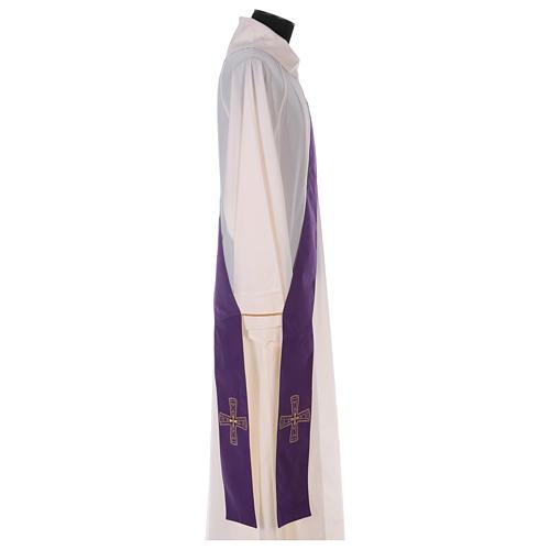 Étole réversible 100% polyester avec croix 3