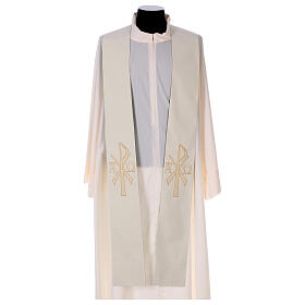 Reversible stole with XP Alpha Omega 100% polyester s2