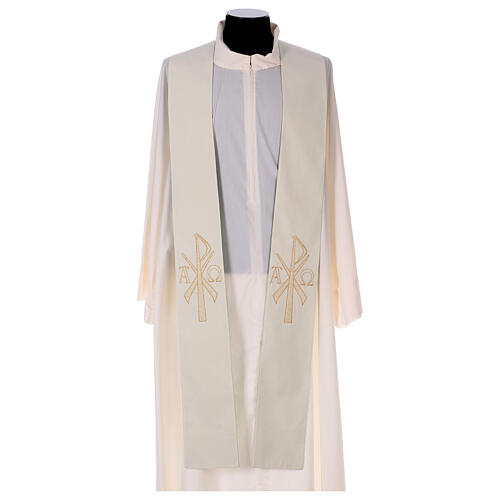 Reversible stole with XP Alpha Omega 100% polyester 2