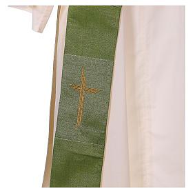 Étole réversible 85% laine 15% lurex avec croix s3