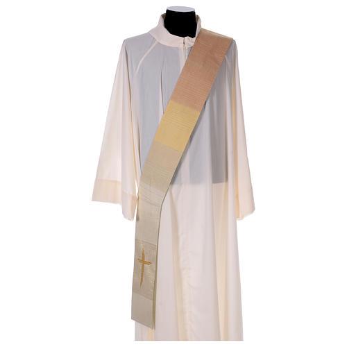 Étole réversible 85% laine 15% lurex avec croix 2
