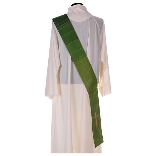 Étole réversible 85% laine 15% lurex avec croix 7
