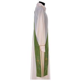 Stola reversibile 85% lana 15% lurex con croce s6