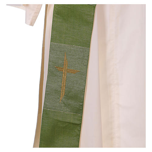 Stola reversibile 85% lana 15% lurex con croce 3