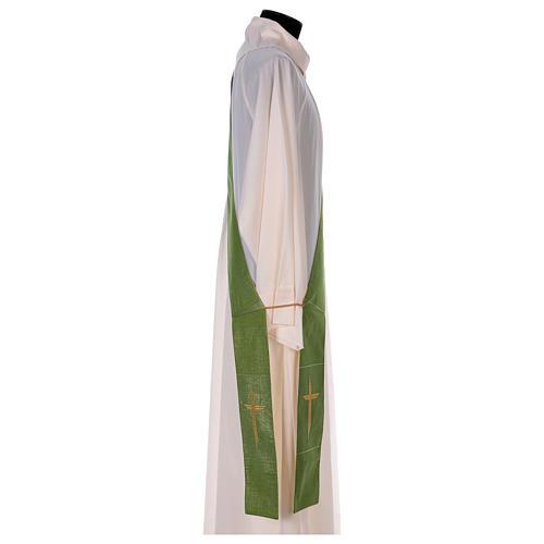 Stola reversibile 85% lana 15% lurex con croce 6