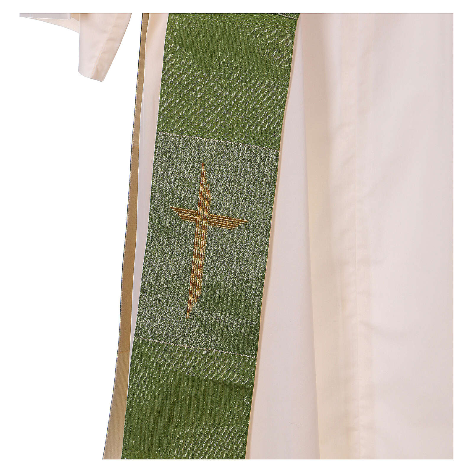 Reversible stole with cross 85% wool 15% lurex 4