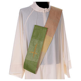 Reversible stole with cross 85% wool 15% lurex s5