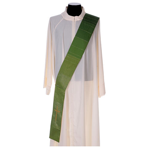 Reversible stole with cross 85% wool 15% lurex 1