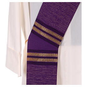 Deacon stole with golden chain detailing 64% wool 26% acrylic 10% lurex s2