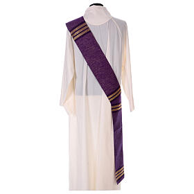 Deacon stole with golden chain detailing 64% wool 26% acrylic 10% lurex s4