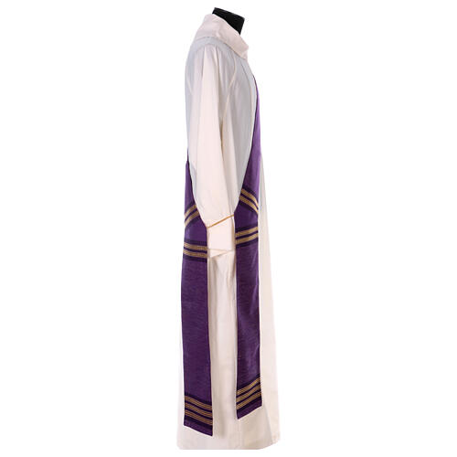 Deacon stole with golden chain detailing 64% wool 26% acrylic 10% lurex 3