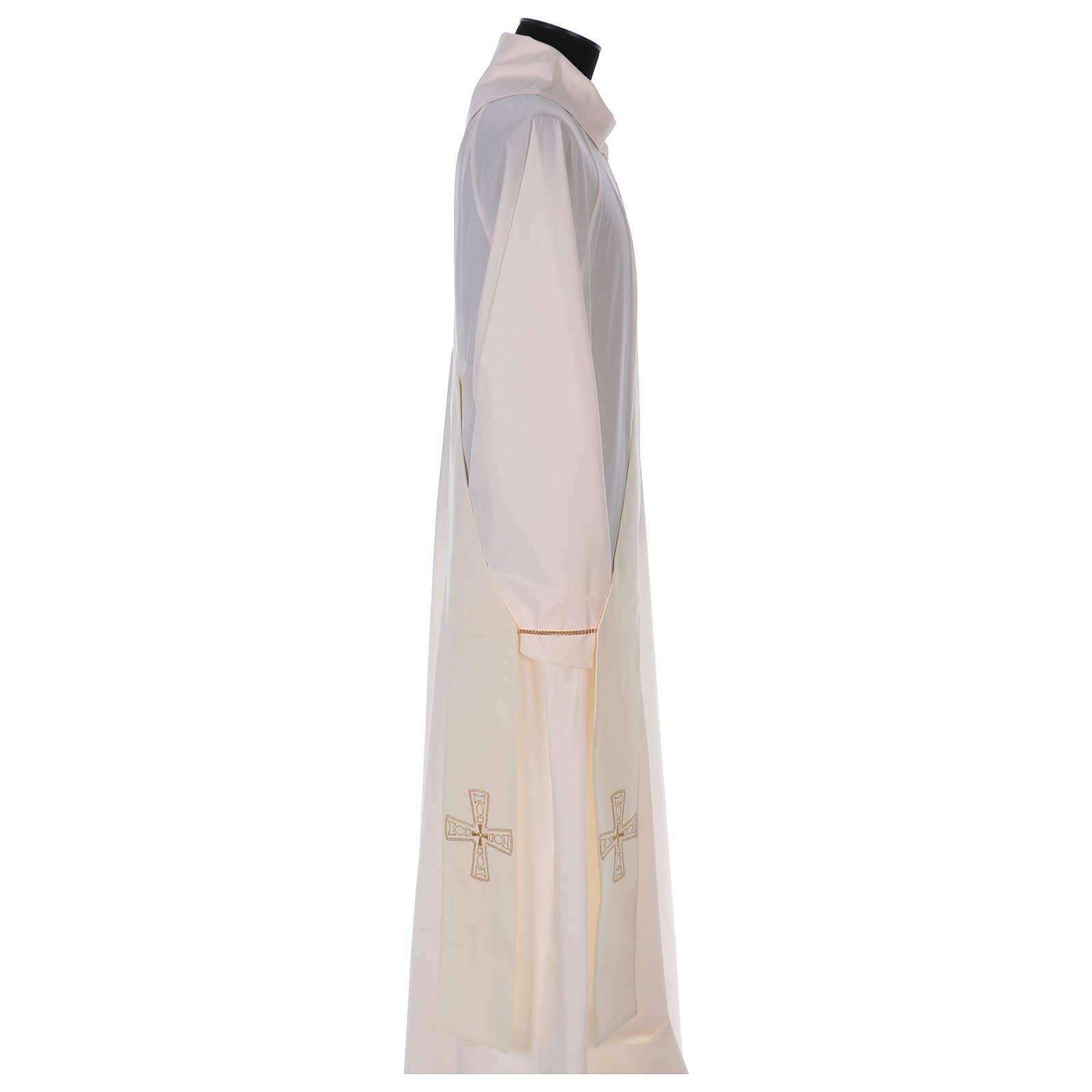Étole diaconale 100% polyester avec croix 4