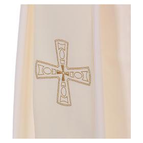 Étole diaconale 100% polyester avec croix s2
