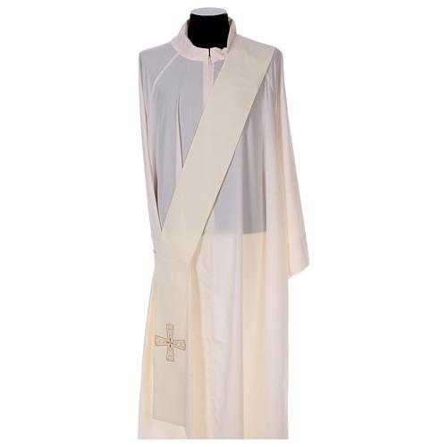 Étole diaconale 100% polyester avec croix 1