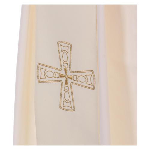 Étole diaconale 100% polyester avec croix 2