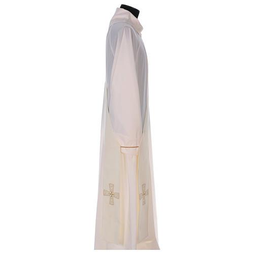 Étole diaconale 100% polyester avec croix 3