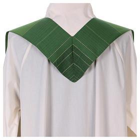 Étole 85% laine 15% lurex avec croix dorée s3