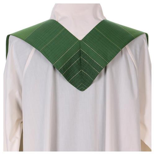 Étole 85% laine 15% lurex avec croix dorée 3