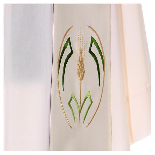 Étole double face 100% polyester épi de blé 4