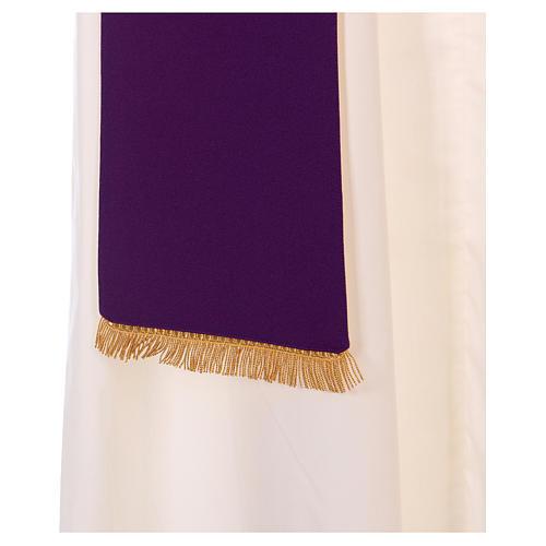 Étole double face 100% polyester épi de blé 6