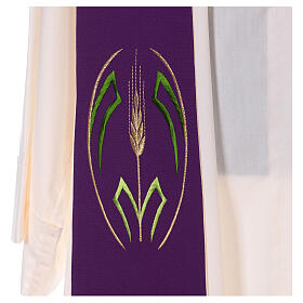 Reversible stole with wheat spike, 100% polyester s2