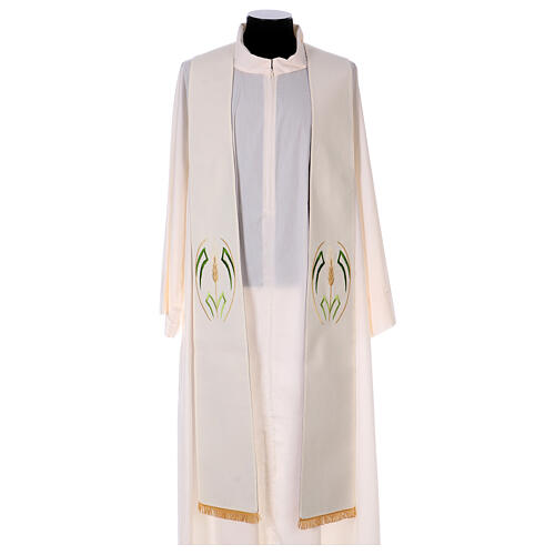 Reversible stole with wheat spike, 100% polyester 3