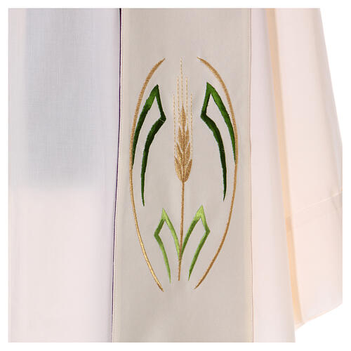 Reversible stole with wheat spike, 100% polyester 4